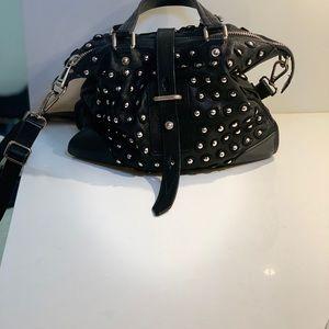 Belstaff Cross Body Black Leather Grommet